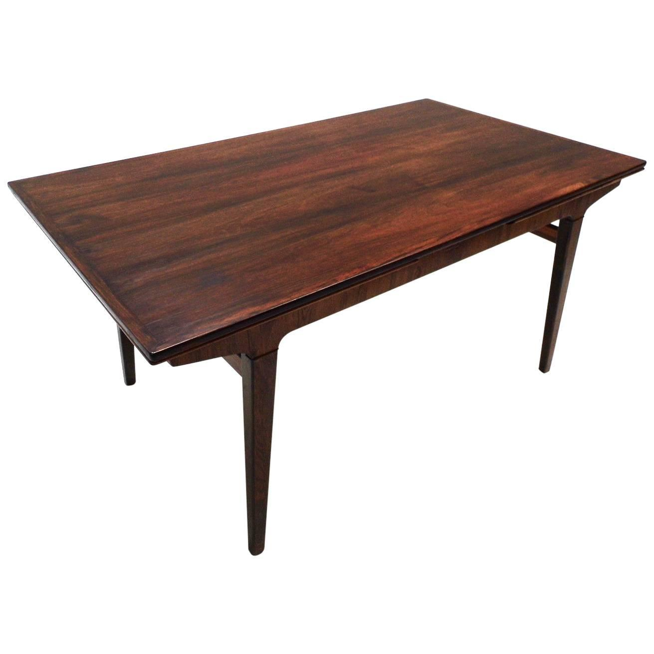 Danish johannes andersen rosewood dining table mid century 1960s at