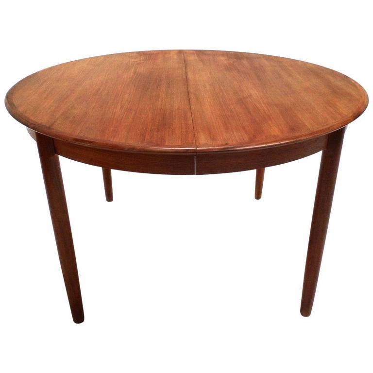 Danish Teak Circular Double Extending Dining Table Midcentury 1960s At 1stdibs