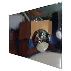 Polished Chrome Wall Relief Sculpture Wall Art