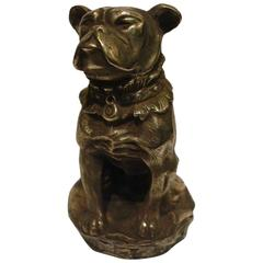 French Bulldog Car Mascot by Antoine Bofill, France, circa 1925