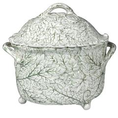 Wedgwood Pearlware Moulded Leaf Tureen and Cover, circa 1877