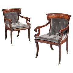 Pair of George IV Klismos Chairs
