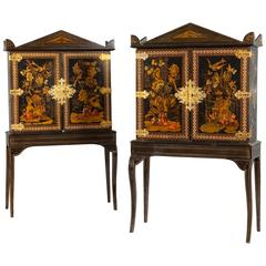 Pair of George IV Japanned Cabinets