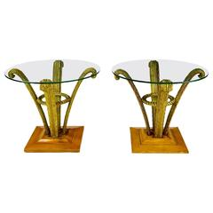 Pair of Grosfeld House Plume End Tables