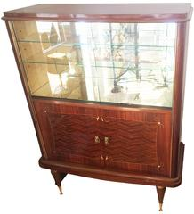 French Art Deco Bar Display Cabinet