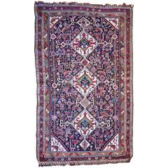 Antique Kuba Rug Handspun Wool and Vegetal Dyes