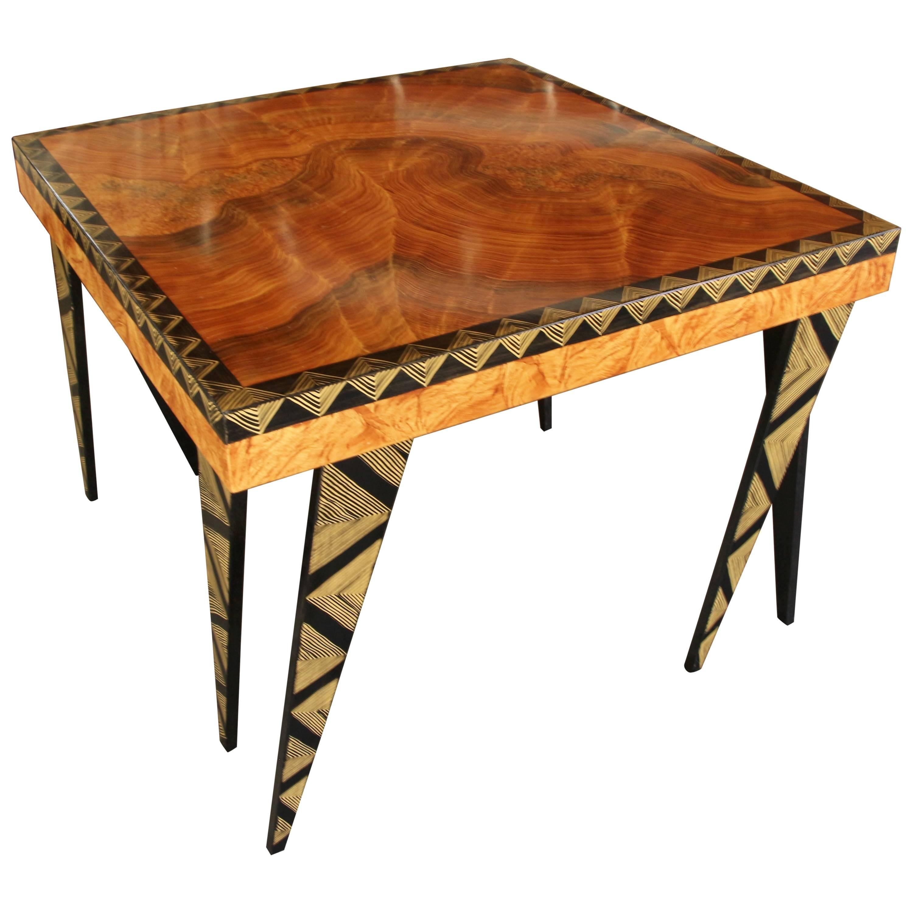 Whimsical hand painted table by grant noren for sale at 1stdibs