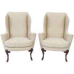 Pair of Baker Wing Chairs