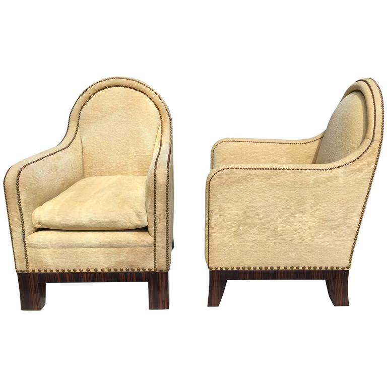 Pair Of MCM Lounge Chairs For Sale At 1stdibs