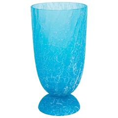 Italian Venetian Murano Glass Vase Signed Cenedese, circa 1970s