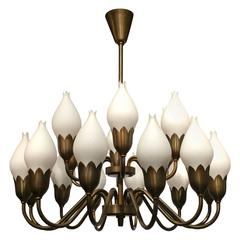 Fog and Morup Opaline Glass Chandelier