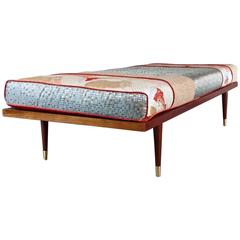 Mid Century Inspired Daybed with Vintage Obi
