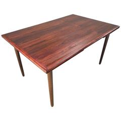 Danish Rosewood Extending Dining Table, Mid-Century, 1960s