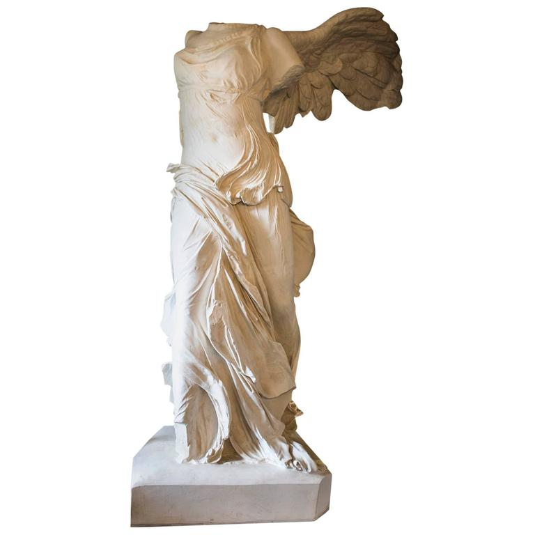 Rare 20th Century Monumental Plaster Nike Statue, Winged Victory of Samothrace For Sale