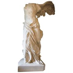 Rare 20th Century Monumental Plaster Nike Statue, Winged Victory of Samothrace