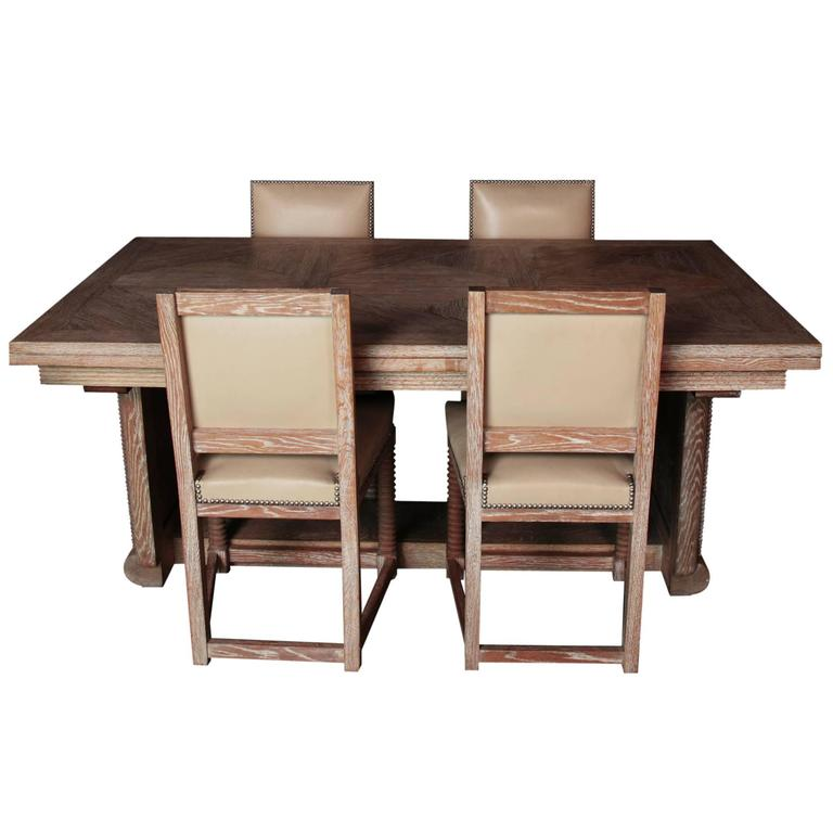 Original colonial dining room furniture marcel cerf 20th for Oriental dining room furniture for sale