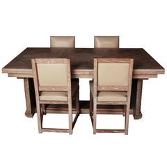 Original Colonial Dining Room Furniture, Marcel Cerf, 20th Century