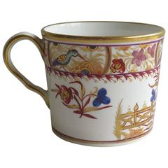 Georgian John Rose Coalport Coffee Can Porcelain Hand-Painted, Circa 1810
