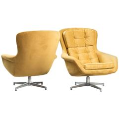 Alf Svensson Swivel Chairs for DUX