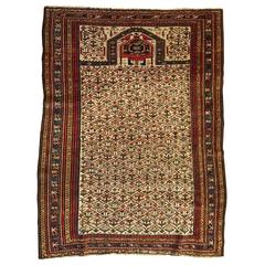 Antique Russian Dagestan Prayer Rug, 19th Century, Russia