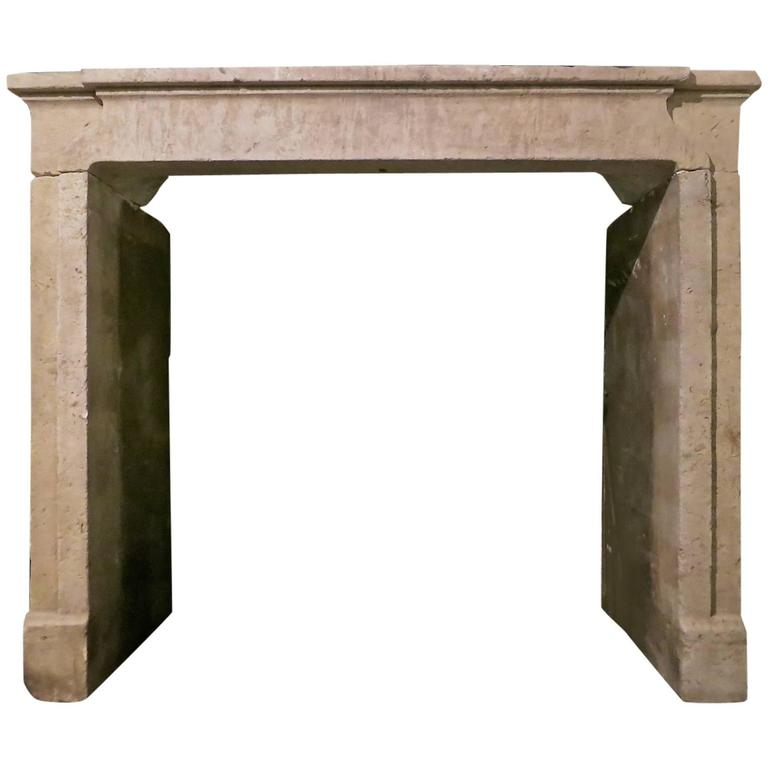 this antique french stone fireplace mantel chimneypiece is no longer