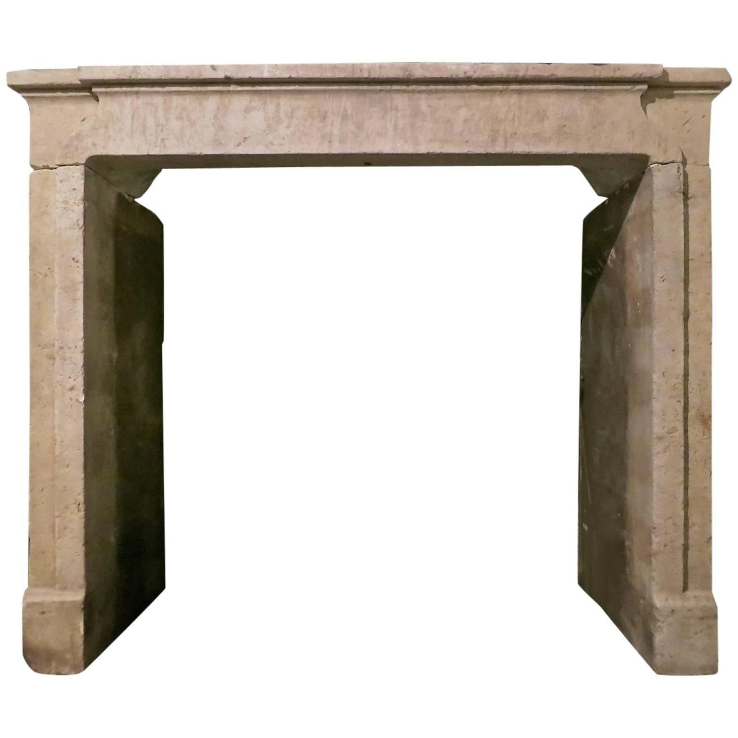 Antique French Stone Fireplace Mantel Chimneypiece For Sale At 1stdibs