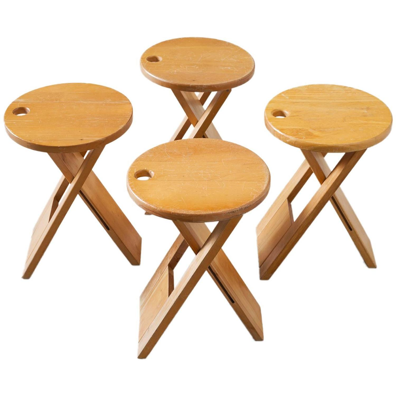 Roger Tallon Folding Stool Plan Roger Tallon Set Of Four