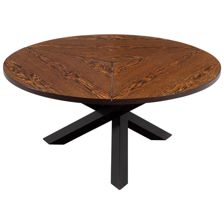 Martin visser round dining table in weng for 39 t spectrum for Dining at at t center