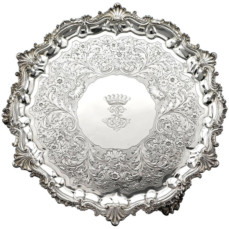 William IV Silver Tray by Paul Storr For Sale
