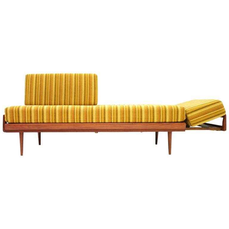 Teakwood Daybed And Sofa By Knoll Antimott Germany 1950s At 1stdibs