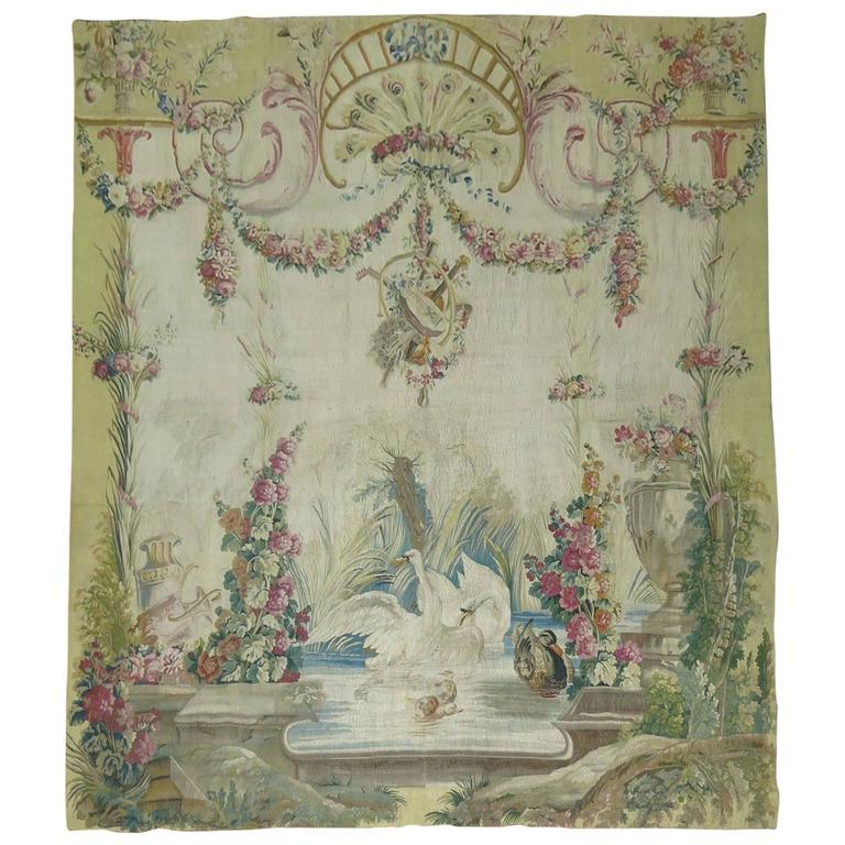 18th Century Aubusson Tapestry Panel from France