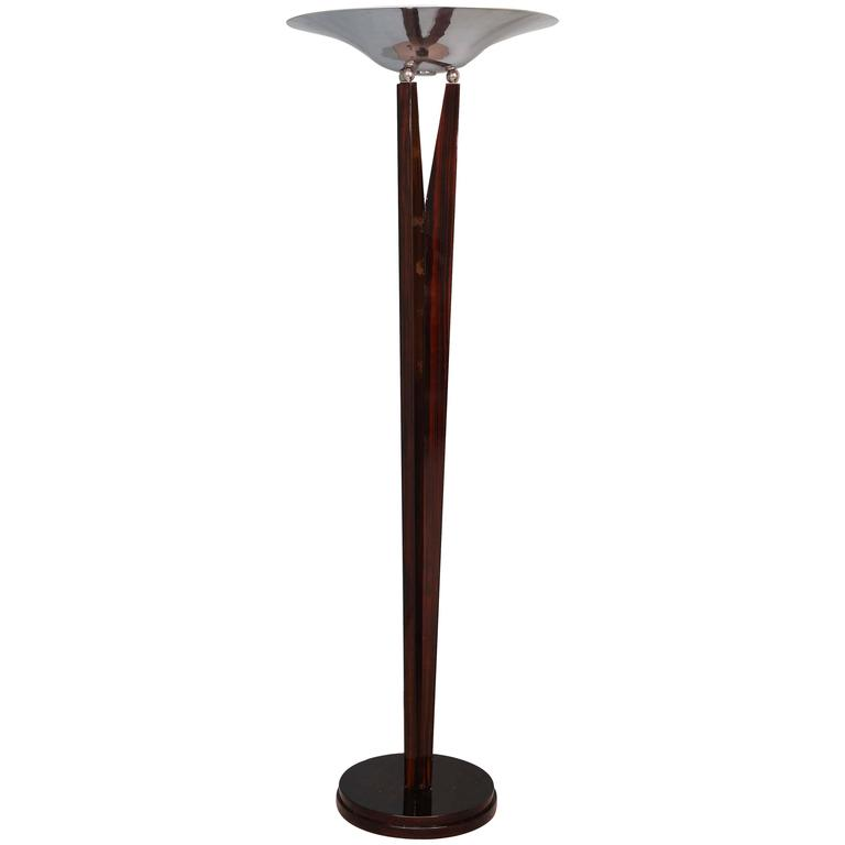 Torchiere rosewood and chrome floor lamp at 1stdibs for Darlington floor lamp chrome