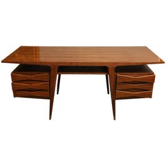 Danish Mid - Century Writing Desk in Walnut