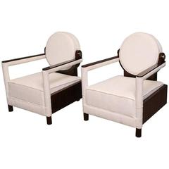 Pair of Continental Art Deco Armchairs