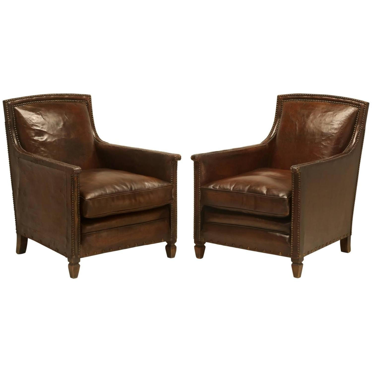 French art deco club chairs at 1stdibs for Art deco furniture chicago