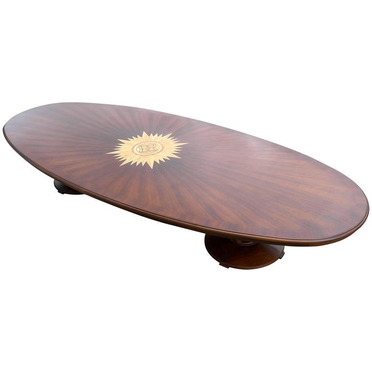 Extra Large Ebony Conference Table, Royal Shipping Company, 1939