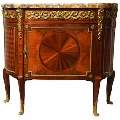 Superb Early 20th Century French Kingwood Commode with Marble Top