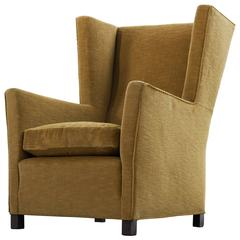 Art Deco Wingback Chair