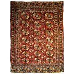 Antique Russian Bokhara Rug, Early 20th Century