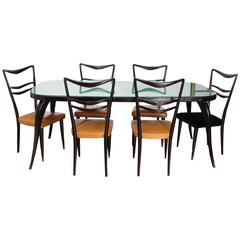 Beautiful Italian Dining Room Set in the Style of Paolo Buffa from the 1950s