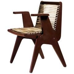 Robert Kayton Plywood with Woven Cord Chair, US, 1940s