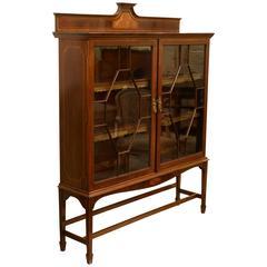 Inlaid Mahogany Edwardian Bookcase