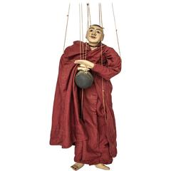 Unusual 20th Century Burmese Buddhist Monk Marionette, Myanmar