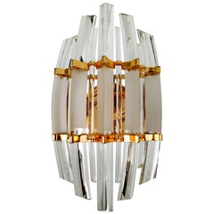 Rare and Massive Venini Murano Glass Sconces, Italy, 1960s