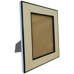 Parchment Picture Frame with Ebony Wood Inlay
