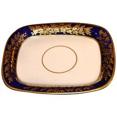 Spode Teapot Stand in Blue and Gold