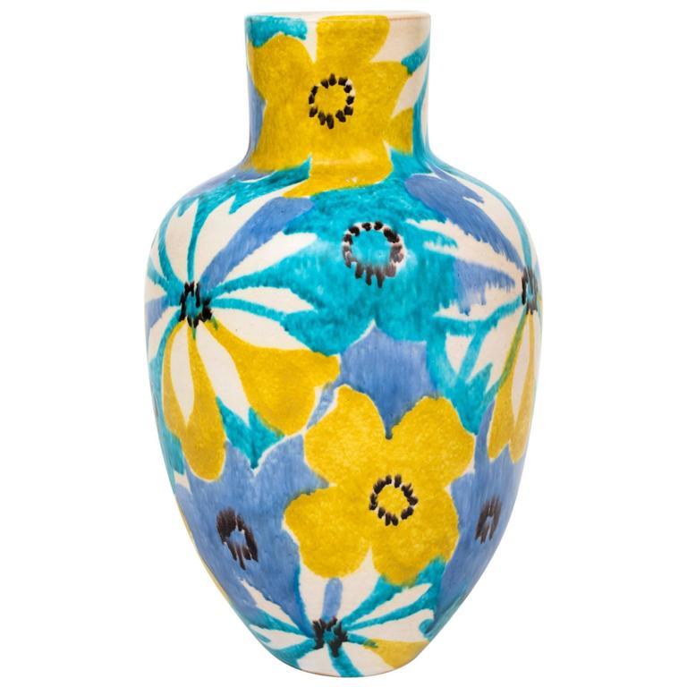 Raymor Italian Ceramic Pop Art Flower Vase At 1stdibs