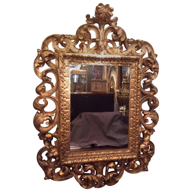 18th century baroque italian mirror at 1stdibs for Small baroque mirror