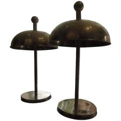 Pair of Brass Ship Lamps