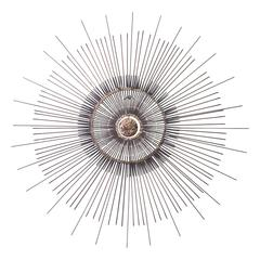 Curtis Jere Mid-Century Starburst Wall Sculpture with Removable Center Medallion